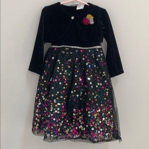 Blueberi Boulevard Black Sparkle Toddler Dress 4T